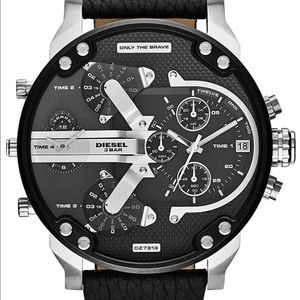 Diesel Men's Mr. Daddy Black Leather Watch